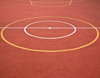 Sports Games Circles and Lines. Sports lines and circles marked on a multi-use games area (MUGA) for a variety of games and physical activities Royalty Free Stock Photos