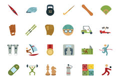 Sports and Games Colored Icons 5. If you're looking to add some adrenaline to your designs, this set of sports and games  is sure to do the trick. This set Royalty Free Stock Photography