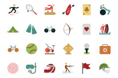 Sports and Games Colored Icons 4 Stock Photography