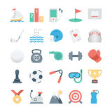 Sports and Games Colored Vector Icons 2 Royalty Free Stock Photo