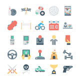 Sports and Games Colored Vector Icons 4 Royalty Free Stock Images