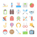 Sports and Games Flat Colored Icons 3 Stock Photos