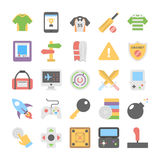 Sports and Games Flat Colored Icons 7 Stock Photo
