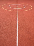 Sports Games Lines and Circles. Sports lines and circles marked on a multi-use games area (MUGA) and sports ground  for a variety of games and physical Royalty Free Stock Photo