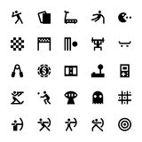 Sports and Games Vector Icons 5 Royalty Free Stock Photos