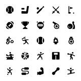 Sports and Games Vector Icons 2. Let's play! Here are the icons of Sports and Games. You will find icons of sports equipment and other outdoor playing activities Stock Image