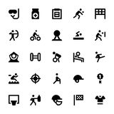 Sports and Games Vector Icons 3 Royalty Free Stock Image