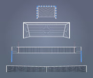 Sports gates and nets royalty free illustration