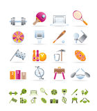Sports gear and tools. Icon set Stock Photography