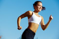 Sports girl Royalty Free Stock Image