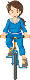 Sports girl. Illustration of a sports girl on white Stock Photos