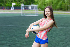 Sports girl Royalty Free Stock Photos