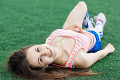 Sports girl Stock Image