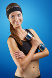 A sports girl possing Royalty Free Stock Photos
