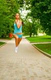 Sports girl running stock image