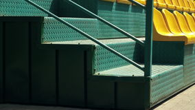 Sports girl runs up the stairs stock footage