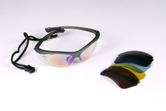 Sports glasses. In a white background Stock Photo