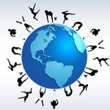 Sports globe world concept Royalty Free Stock Photos