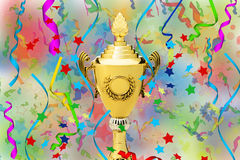 Sports gold Cup Royalty Free Stock Photography