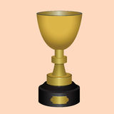 Sports gold trophy Stock Photos