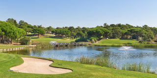 Sports golf park in Portugal. Royalty Free Stock Photos
