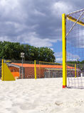 Sports ground for beach soccer and volleyball Royalty Free Stock Photography