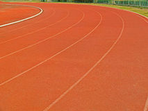 Sports ground curve. Running track royalty free stock photography