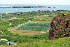 Sports Ground of Helgoland Royalty Free Stock Photo