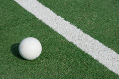 Sports-ground for hockey. Sports-ground with ball to play hockey Royalty Free Stock Photography