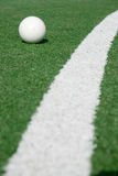 Sports-ground for hockey. Sports-ground with ball to play hockey Stock Image