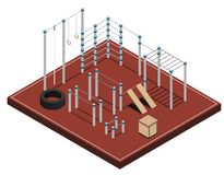 Sports Ground Isometric Illustration royalty free illustration