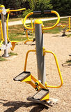 Sports ground in the park. Fitness equipment. Royalty Free Stock Photography