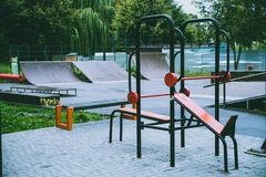 Sports ground for training stock image