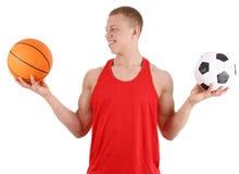 Sports guy Royalty Free Stock Image