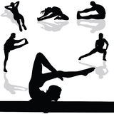 Sports and gymnastic exercises Stock Photo