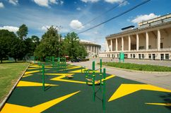 Sports gymnastic ground on the street Stock Image