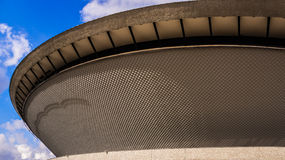 Sports hall built in the shape of a flying saucer. In the early seventies of the 20th century, on March 02, 2013. Structure is the best recognizable landmark of Stock Image