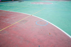 Sports hall with colorful marking lines Royalty Free Stock Images