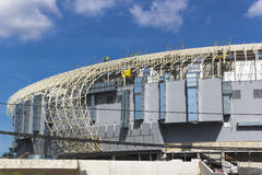 Sports hall during construction Royalty Free Stock Image