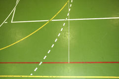 Sports hall floor Stock Photo