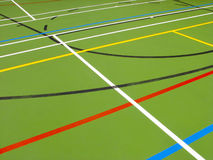 Sports hall floor Stock Image