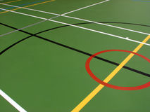 Sports hall floor markings Stock Photos