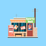 Sports Hall Front. Vector Illustration Royalty Free Stock Photos
