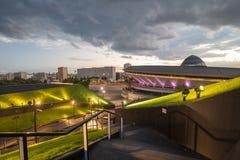 Sports hall Spodek in Katowice, Poland / Night view Stock Photos