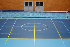 Sports hall volleyball multiplayer court Royalty Free Stock Photo