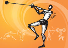 Sports_hammer throw Stock Photo
