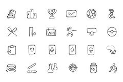 Sports Hand Drawn Doodle Icons 6 Royalty Free Stock Image