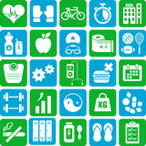 Sports and health icons. A set of various sports, health and fitness icons Stock Images
