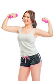 Sports and healthy girl Stock Photos
