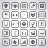 Sports and healthy icons set Royalty Free Stock Images